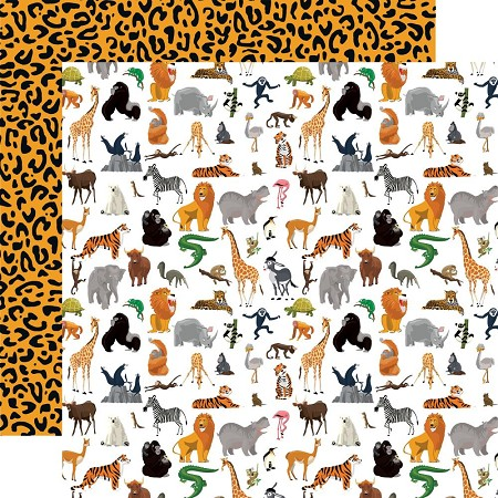 "Carta Bella - Zoo Adventure Collection - Born To Be Wild 12""x12"" Cardstock"