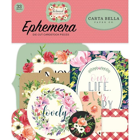 Carta Bella - Botanical Garden Collection - Die Cut Ephemera