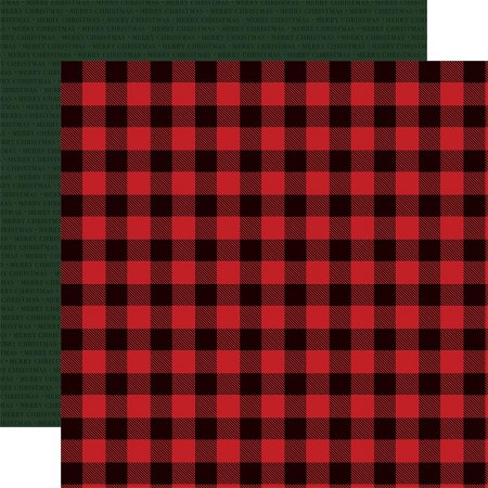 "Carta Bella - Christmas Market Collection - Buffalo Plaid 12""x12"" Cardstock"