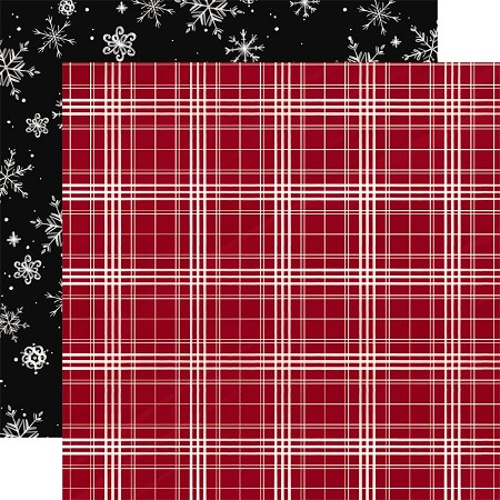 "Carta Bella - Christmas Market Collection - Christmas Plaid 12""x12"" Cardstock"