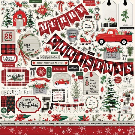 "Carta Bella - Christmas Market Collection - 12""x12"" Stickers"