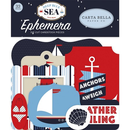 Carta Bella - Deep Blue Sea Collection - Die Cut Ephemera