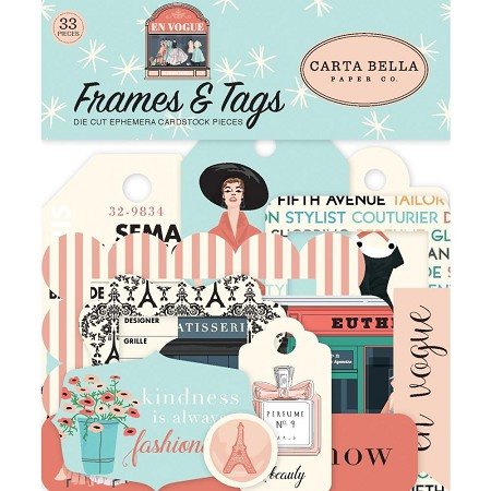 Carta Bella - En Vogue Collection - Die Cut Tags & Frames