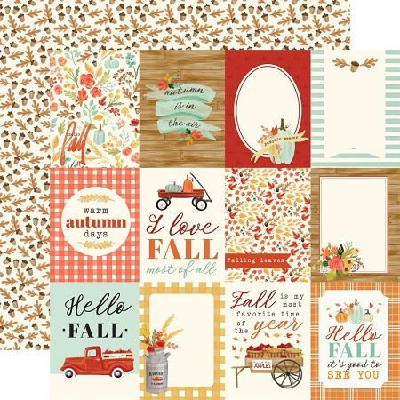"Carta Bella - Fall Market Collection - 3""X4"" Journaling Cards 12""x12"" Cardstock"