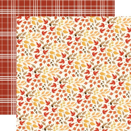 "Carta Bella - Fall Market Collection - Rustling Leaves 12""x12"" Cardstock"