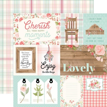 "Carta Bella - Farmhouse Market Collection - 4""X6"" Journaling Cards 12""x12"" Cardstock"