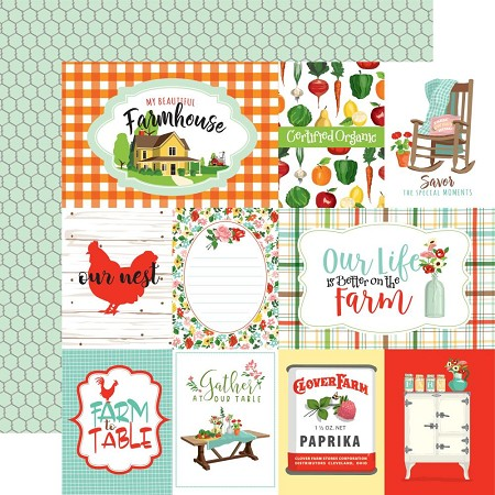 "Carta Bella - Farm to Table Collection - Journaling Cards 12""x12"" Cardstock"