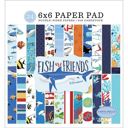 Carta Bella - Fish Are Friends Collection - 6x6 Paper Pad