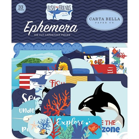 Carta Bella - Fish Are Friends Collection - Die Cut Ephemera