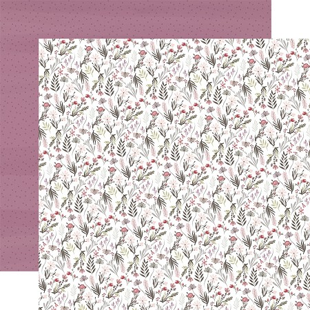 "Carta Bella - Flora No.3 Collection - Elegant Small Floral 12""x12"" Cardstock"