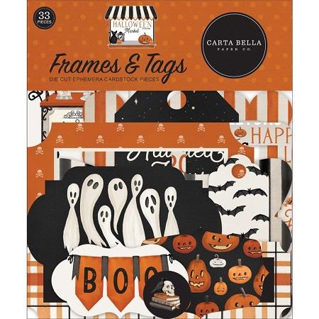 Carta Bella - Halloween Market Collection - Die Cut Labels and Tags