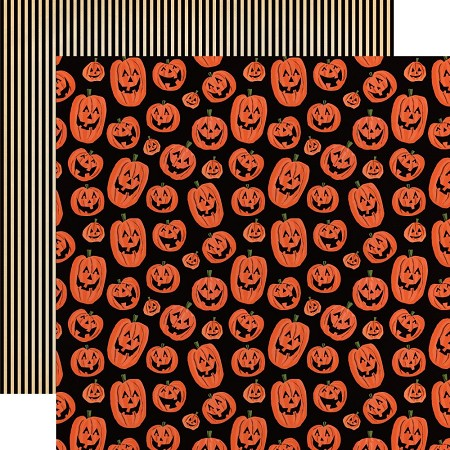 "Carta Bella - Happy Halloween Collection - Laughing Pumpkins 12""x12"" Cardstock"