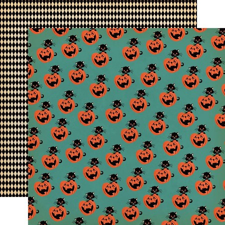 "Carta Bella - Happy Halloween Collection - Toil & Trouble 12""x12"" Cardstock"