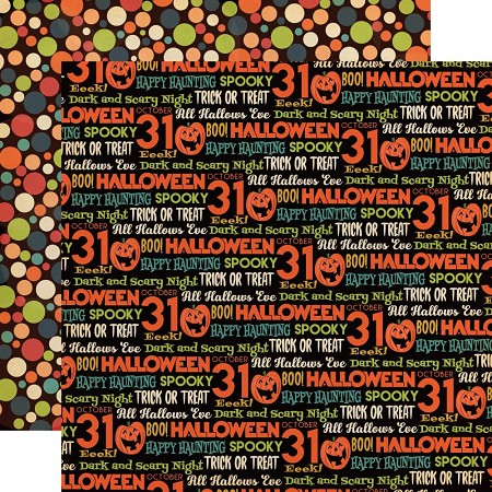 "Carta Bella - Happy Halloween Collection - All Hallows Eve 12""x12"" Cardstock"
