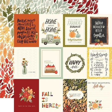 "Carta Bella - Hello Autumn Collection - 3""X4"" Journaling Cards 12""x12"" Cardstock"