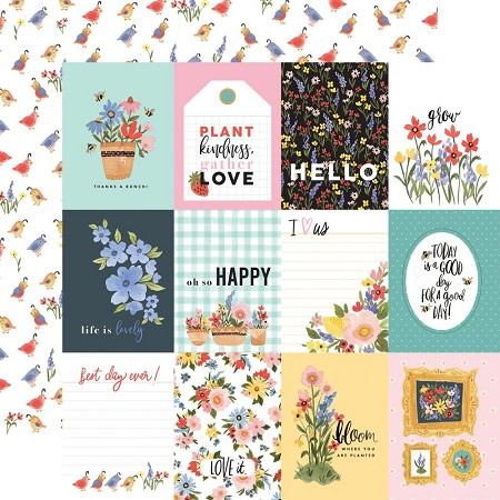 "Carta Bella - Oh Happy Day Collection - 3""X4"" Journaling Cards 12""x12"" Cardstock"
