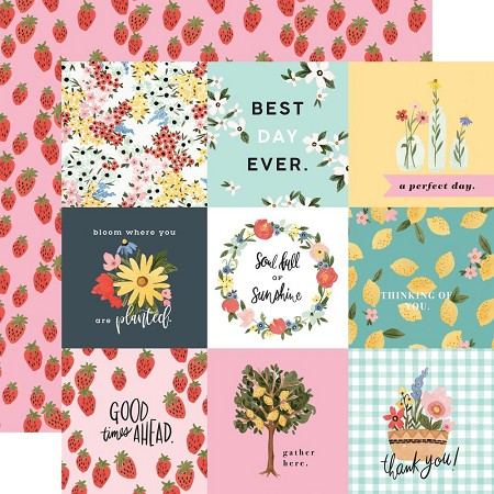 "Carta Bella - Oh Happy Day Collection - 4""X4"" Journaling Cards 12""x12"" Cardstock"