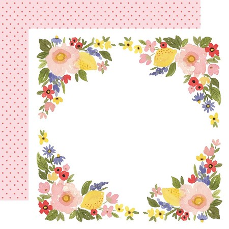 "Carta Bella - Oh Happy Day Collection - Bloom Border 12""x12"" Cardstock"