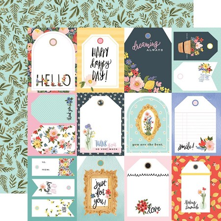 "Carta Bella - Oh Happy Day Collection - Tags 12""x12"" Cardstock"