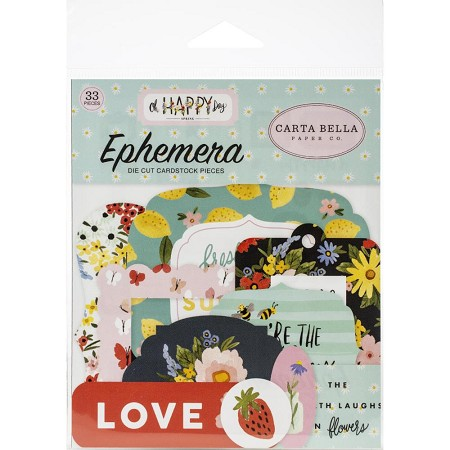 Carta Bella - Oh Happy Day Collection - Die Cut Ephemera