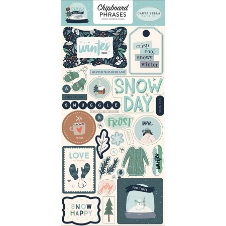 "Carta Bella - Snow Much Fun Collection - 6""x12"" Chipboard Phrases"