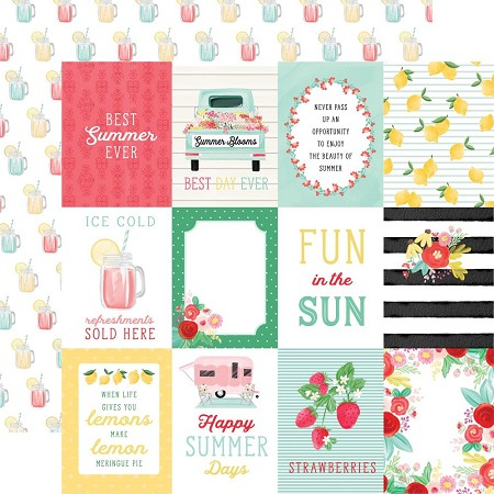 "Carta Bella - Summer Market Collection - 3""X4"" Journaling Cards 12""x12"" Cardstock"