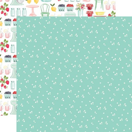 "Carta Bella - Summer Market Collection - Tiny Flowers 12""x12"" Cardstock"