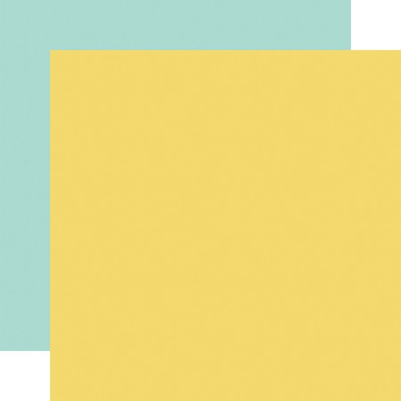 "Carta Bella - Summer Market Collection - Yellow/Blue 12""x12"" Cardstock"