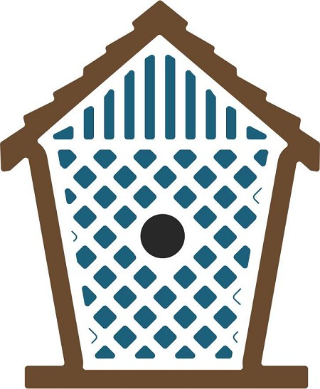 Cheery Lynn - Die - Birdhouse with Lattice