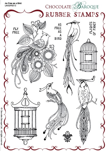 "Chocolate Baroque - As Free As A Bird Unmounted Stamp Sheet (5.5""x8"")"