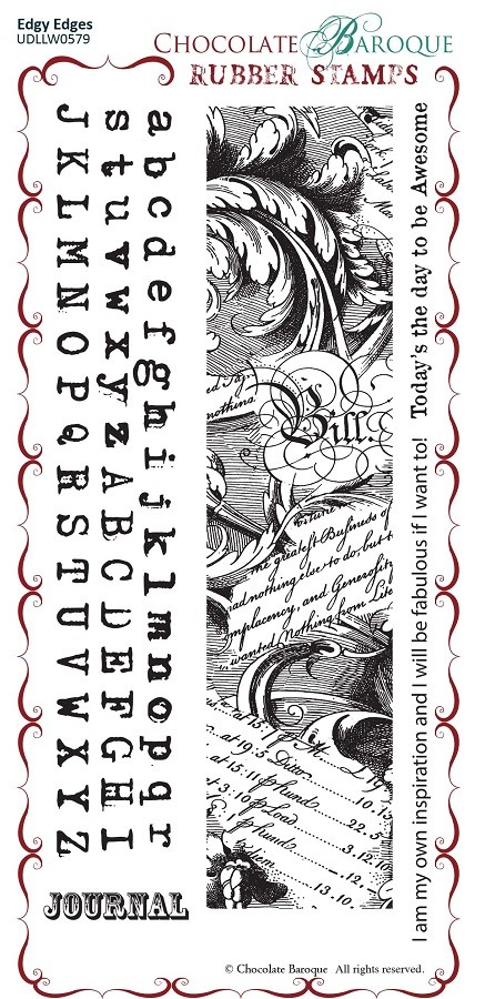 "Chocolate Baroque - Edgy Edges  Unmounted Stamp Sheet (3.75""x5.75"")"