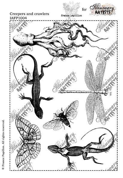 "Chocolate Baroque - Creepers and Crawlers Unmounted Stamp Sheet (5.5""x8"")"