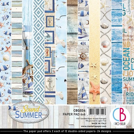"Ciao Bella - The Sound of Summer Collection - 6""x6"" Patterns Paper Pad"