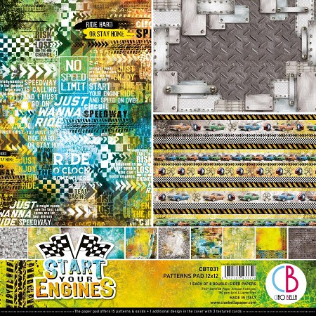 Ciao Bella - Start Your Engines Collection - Coordinating Patterns Paper Kit