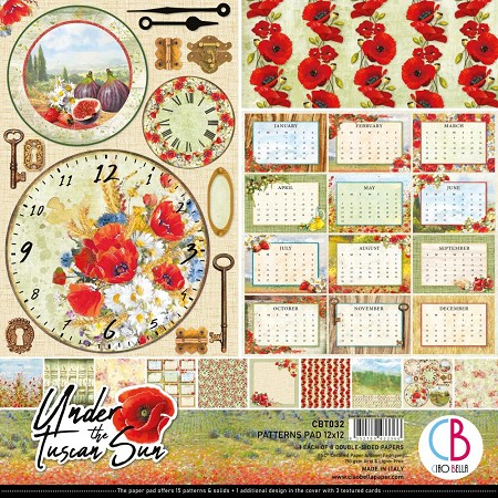 Ciao Bella - Under the Tuscan Sun Collection - Coordinating Patterns Paper Kit