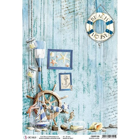 Ciao Bella - The Sound of Summer Collection - Coastal Living Piuma Rice Paper