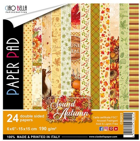 "Ciao Bella - The Sound of Autumn Collection - 6""x6"" Patterns Paper Pad"