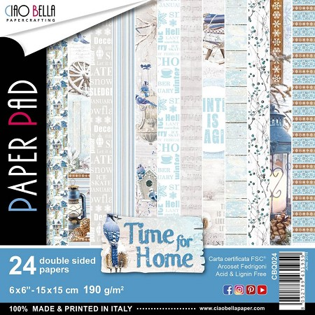 "Ciao Bella - Time For Home Collection - 6""x6"" Patterns Paper Pad"