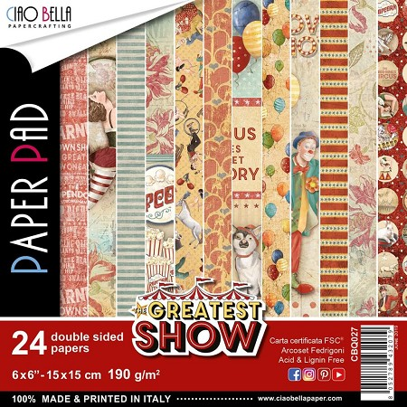 "Ciao Bella - Greatest Show Collection - 6""x6"" Patterns Paper Pad"