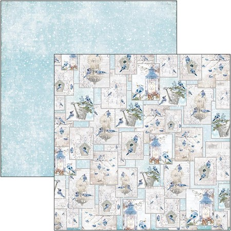 Ciao Bella - Time For Home Collection - Hello Winter 12x12 Cardstock