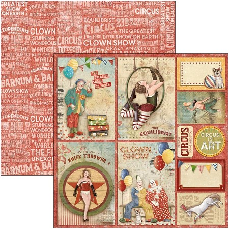 Ciao Bella - Greatest Show Collection - Circus Cards 12x12 Cardstock