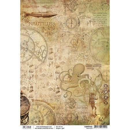 Ciao Bella - Voyages Extraordinaires collection - Nautilus Piuma Rice Paper