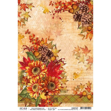 Ciao Bella - The Sound of Autumn Collection - All At Once Summer Collapsed Into Fall Piuma Rice Paper