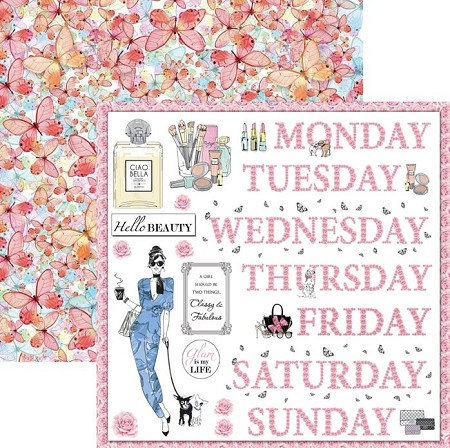 Ciao Bella - Italian Luxury collection - 12x12 Cardstock - Floral week
