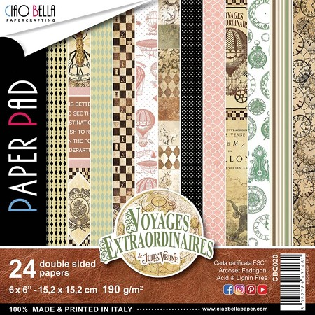 "Ciao Bella - Voyages Extraordinaires Collection - 6""x6"" Patterns Paper Pad"