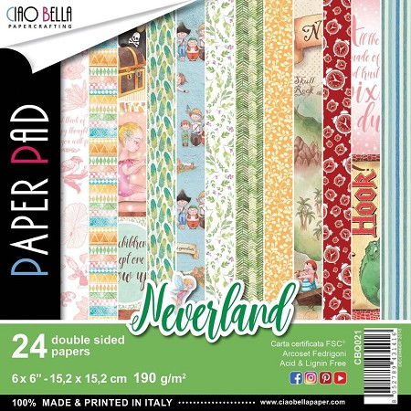 "Ciao Bella - Neverland Collection - 6""x6"" Patterns Paper Pad"