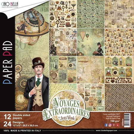 Ciao Bella - Voyages Extraordinaires Collection - Paper Collection Kit