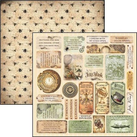 Ciao Bella - Voyages Extraordinaires Collection - Mini Cards 12x12 Cardstock