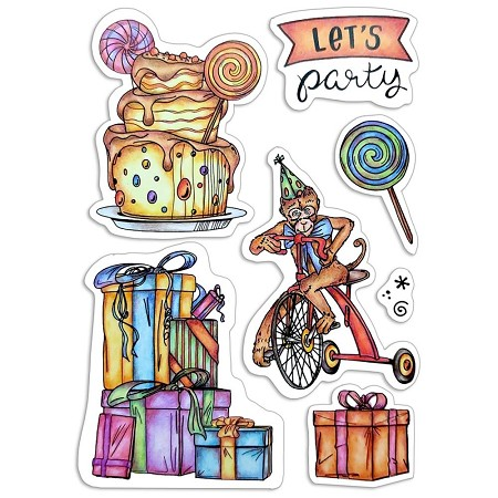 Ciao Bella - My First Year Keep Let's Party Clear Stamp Set