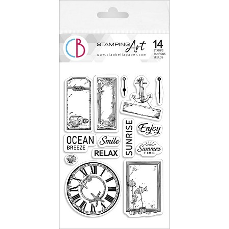 PRE-ORDER - Ciao Bella - Coastal Living Clear Stamp Set